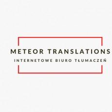 """Internetowe Biuro Tłumaczeń """"Meteor Translations"""""""
