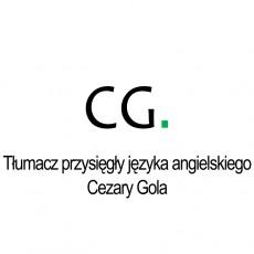 Tłumacz przysięgły języka angielskiego Cezary Gola